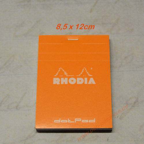 Rhodia Block DotPad 8,5x12 orange